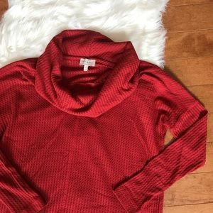 Lucky Brand | Burnt Red Waffle Knit Pullover Sz S